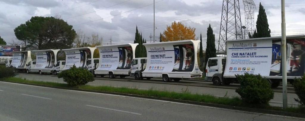 Mezzi con pubblicità Arno Manetti