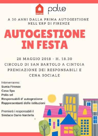 "Locandina ""Autogestione in Festa"" 2018"